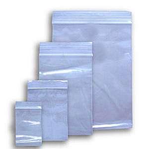Embalagem plástica com zip