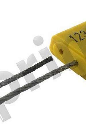 Lacre de segurança com cabo de aço